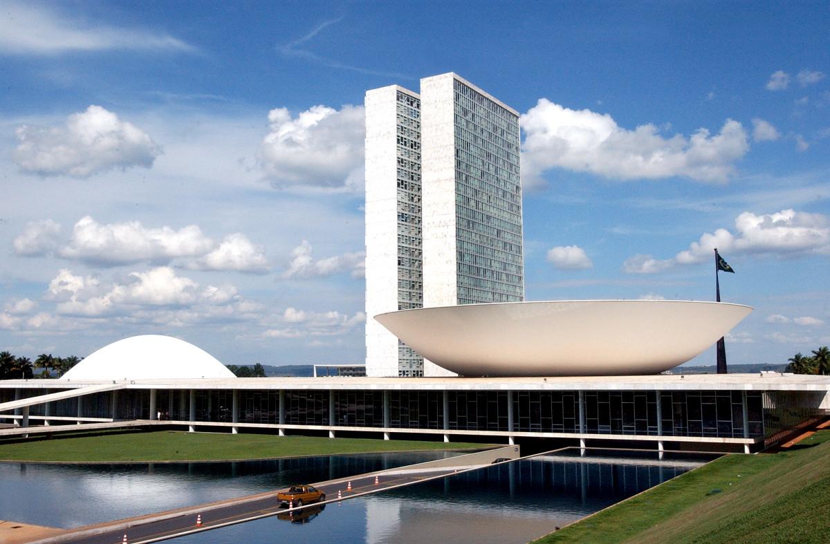 Foto externa do Congresso Nacional 22.11.03 Foto Reynaldo Stavale